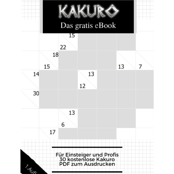 Kakuro – Das gratis eBook – 1. Auflage